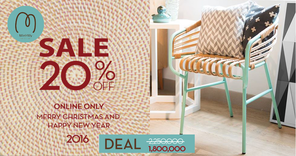 """Chương trình sales off 20% mừng """"MERRY CHRISTMAS & HAPPY NEW YEAR 2016"""""""